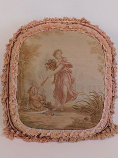 OLD TAPESTRY PILLOW - CLASSICAL