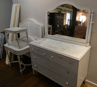 PAINTED FRENCH BEDROOM SET
