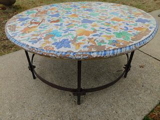 OUTDOOR IRON TABLE