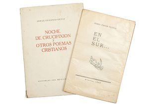 LOTE DE LIBROS POR ALFREDO ZALCE. a) En el Sur... b) Noche de Crucifixión y Otros Poemas Cristianos. Piezas: 2.
