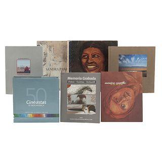 LIBROS SOBRE ARTE Y CINE MEXICANO. a) La Colección de Pintura Mexicana de Licio Lagos. b) Pain, Sandra. c) Memoria Grabada. Pzs: 7.