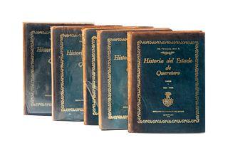 Díaz, Fernando. Historia del Estado de Queretaro, (1821 - 1931). Queretaro: Ediciones del Gobierno del Estado, 1979. Pzs: 5.