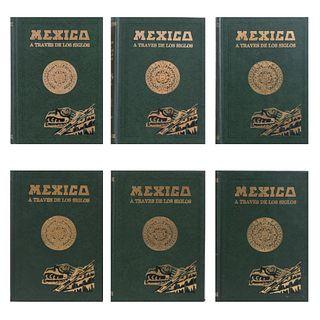 México a través de los Siglos. Riva Palacio, Vicente. México: Editorial Cumbre, sin año.  Historia General y Completa... Piezas: 6.