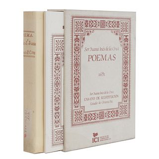De la Cruz, Sor Juana Inés. Poemas 1691. Madrid: Instituto de Cooperación Iberoamericana - Ediciones Cultura Hispánica, 1993. Pzs: 2.