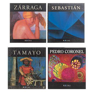 Grupo Financiero Bital. Pedro Coronel / Tamayo / Sebastián / Zárraga. México: Bital - Editorial Oceáno, 1993, 1996 - 1998. Piezas: 4.