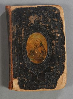 Russian Prayer Book, 18th c., H.- 4 7/8 in., W.- 3 1/2 in., D.- 5/8 in.