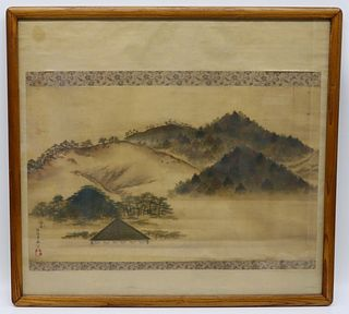 Signed Chinese Scroll Painting Landscape.