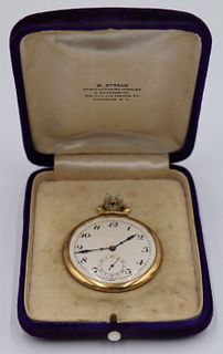 JEWELRY. Henry Sandoz 18kt Gold Pocket Watch.