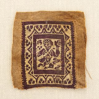 6th C. Egyptian Coptic Textile Fragment w/ Figure