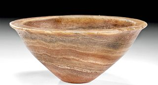 Bactrian / BMAC Banded Alabaster Shallow Bowl