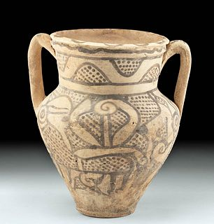Kushan Pottery Jar w/ Zoomorphs w/ TL