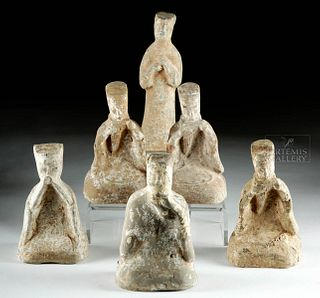 Lot of 6 Han Dynasty Pottery Musicians & Dancers