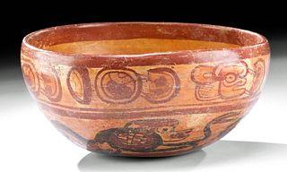 Maya Copador Polychrome Bowl w/ Monkeys