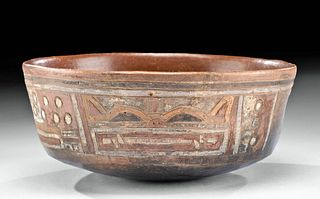 Paracas Polychrome Bowl w/ Incised Motifs - TL Tested