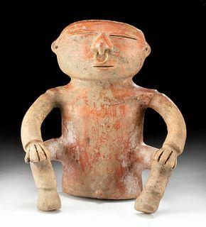 Quimbaya Redware Seated Male Figure