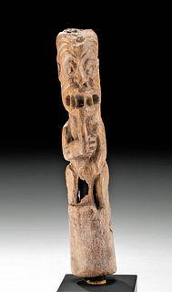 Rare La Tolita Bone Figural Carving