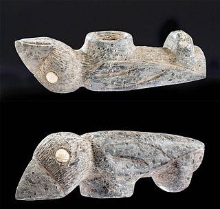 La Aguada Stone Bird Effigy Pipe