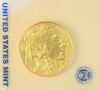 Gold Buffalo, 2013 Mint State fine gold, 1 oz.