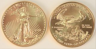 Two Gold Eagles, 2003, 1 oz. each.