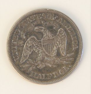 1863 Seated Liberty Half Dollar.