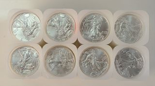 Eight Rolls of Silver Eagles, 1 oz. each, 160 t.oz.