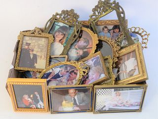 Tray Lot of Picture Frames, to include French gilt frames, enameled frames, etc.