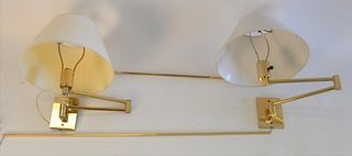 Hansen Four Piece Group, to include two pairs of brass swing arm sconces.