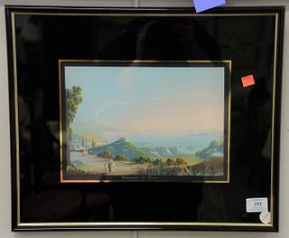 Two Italian School Views of the Bay of Naples, each gouache on paper, one signed lower left 'A. Coppola', the other inscribed indistinctly along the l