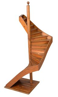 Small architectural Staircase model, height 58 inches, width 23 inches.