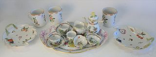 Fifteen piece Herend lot to include a Ten piece Herend Tea set, to include 2 tea cups, 1 tea pot, 1 saucers, 1 cream, 1 sugar, along with 5 other Here