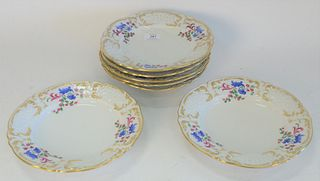 Set of Seven Royal Vienna Porcelain Soups, marked with impressed beehive, diameter 9 1/4 inches.