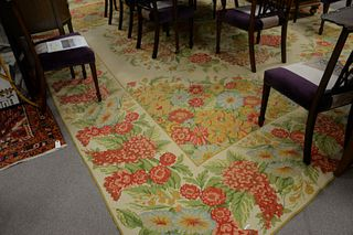 "Custom Woven Carpet, 12' 10"" x 17'."