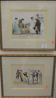 Five Piece Group of Engravings, to include Vincenzo Dolcibene, sonno giacente col euro ed altri simboli engraving; pair of animal engravings, Asino go