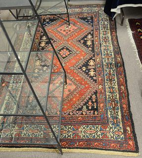 """Hamaden Oriental Scatter Rug, 4' x 6' 9"""". Provenance: From the Robert Circiello Collection, West Hartford, Connecticut."""