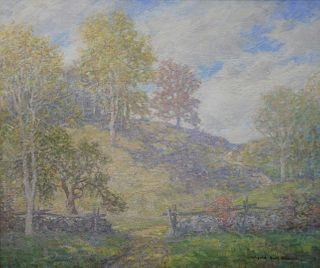 """Winfield Scott Clime (American, 1881 - 1958), Spring on Hill, Old Lyme, Connecticut, oil on canvas, signed lower right: Winfield Scott Clime, 25 1/4"""""""