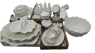 Large Lot of Porcelain, to include 12 corn cob dishes; several serving plates; 16 salt and peppers; 2 Coalport serving bowls (one cracked); along with