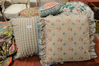 Group of Twenty-Four Pillows, to include needlepoint, petit point, and decorative.