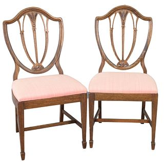 Set of six Mahogany Federal style side chairs (as is), total height 38 inches.