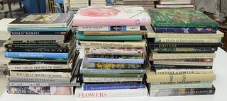 """Large Lot of Coffee table books, approximately 48, related to gardening and Paris, to include titles, """"The Roses,"""" """"Flowers,"""" """"Great Houses of Paris,"""""""