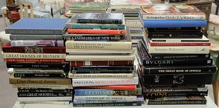"""Large Lot of Coffee table books, approximately 49, related to traveling and collectibles, to include titles, """"Great Houses of Britain,"""" """"Landmarks of"""