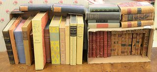 """Lot of Thirty-Two Books consisting of classic titles and leather bound to include, """"Don Quixote""""; """"The Three Musketeers""""; """"Don Juan""""; """"The Last Mohica"""