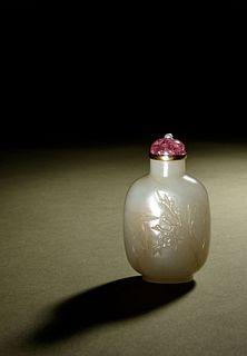 A White Jade Snuff Bottle