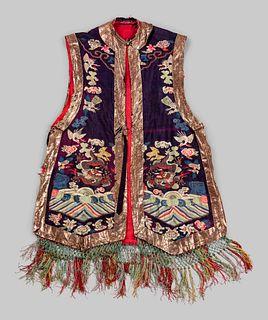 A Kesi Woven Silk Ladies' Vest