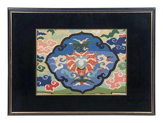 A KesiWoven Silk 'Lotus' Panel