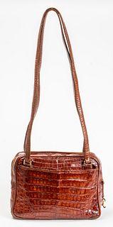 Chanel Brown Crocodile Handbag