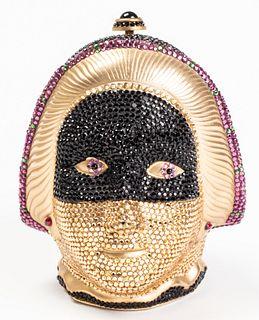 Judith Leiber Venetian Masked Minaudiere