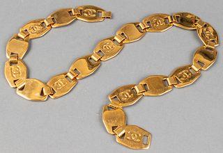 Chanel Gold-Tone Metal Link Belt