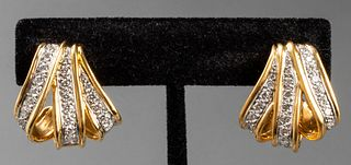Angela Cummings 18K, Platinum & Diamond Earrings