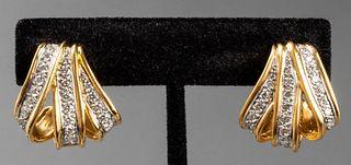 Angela Cummings 18K, Platinum & Diamond Earrings
