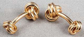 Tiffany & Co 18K Yellow Gold Double Knot Cufflinks